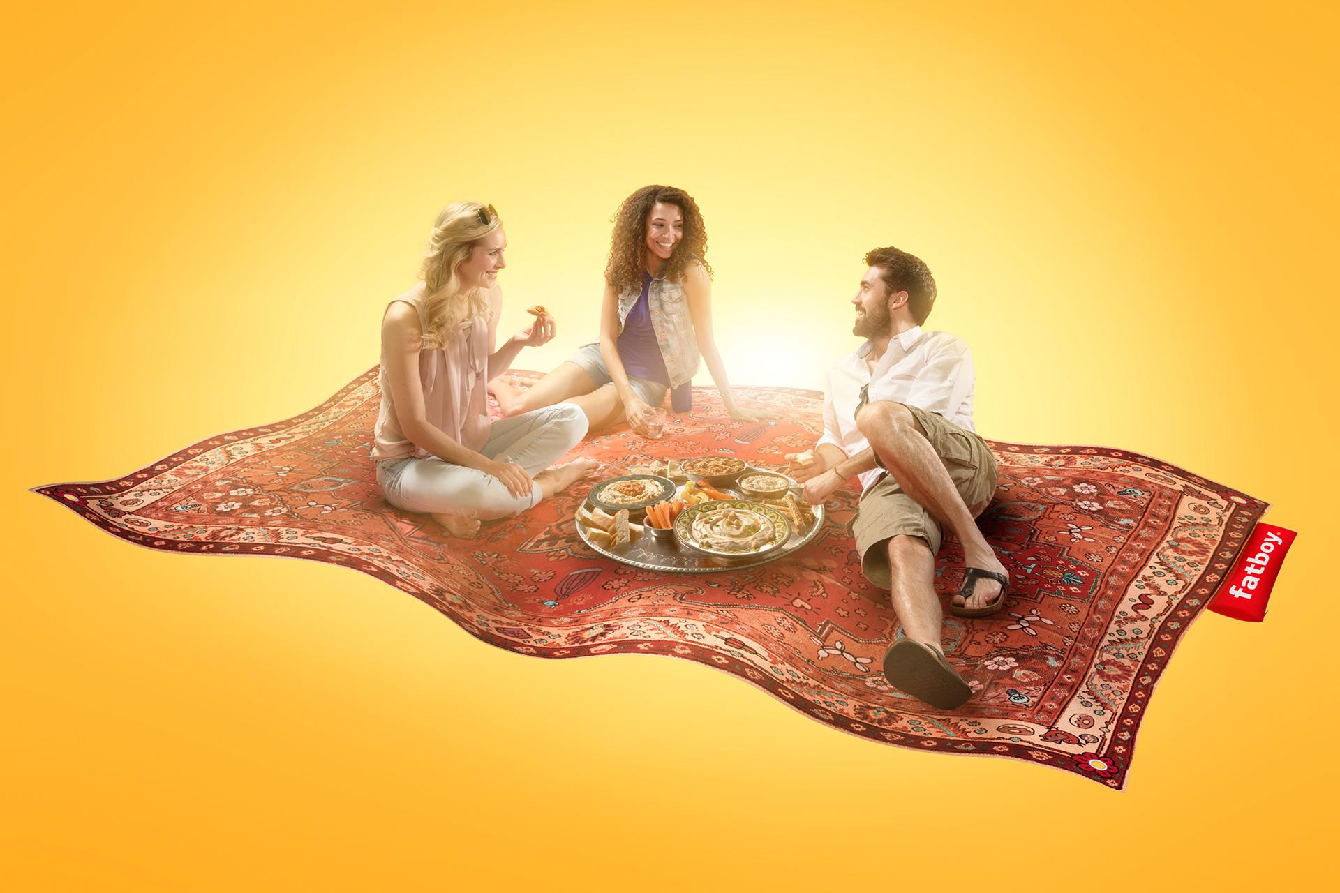 Sabra Mezze campagne fatboy vliegend tapijt