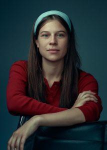 Jasmijn Vriethoff, actrice, spangas, theatertroep, portret, foto